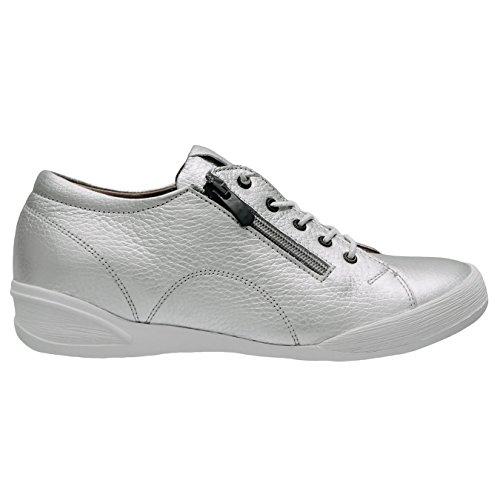 Elska Women Duam Silver Casual Sneaker Shoes