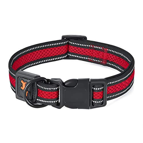 CBBPET Dog Collars for Large Dogs Male,Reflective Mesh Dog Collar,Breathable Soft Dog Collar for Small, Medium Dogs with…