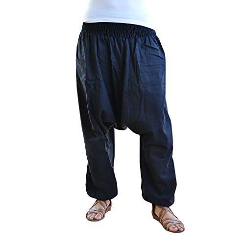 pantalones cagados virblatt color único talla única con entrepierna ...