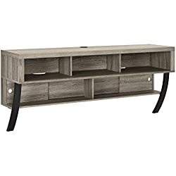 "Ameriwood Home Altra Furniture Wall Mounted TV Stand, 60"", Sonoma Oak"