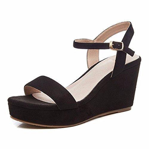Tacones Sandalias Mujer Hebillas QPSSP Sandalias Altos Sandalias De black Zapatos C6wFqOxRH