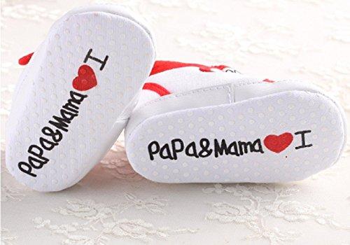 S4–Babyschuhe Neugeborene I Love Mama & Papa TG.13(12–