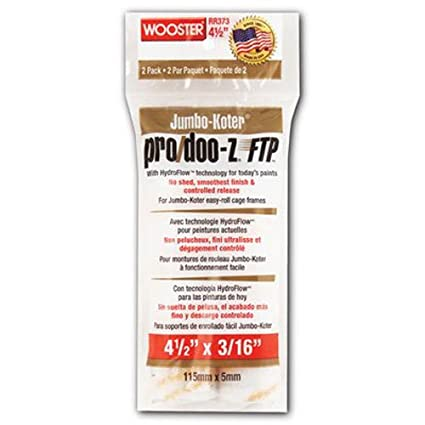 Wooster Brush RR373-6 1//2 Inch Pro Doo Z FTP Jumbo Koter Miniroller 2-Pack 3//16 Nap The Wooster Brush Company