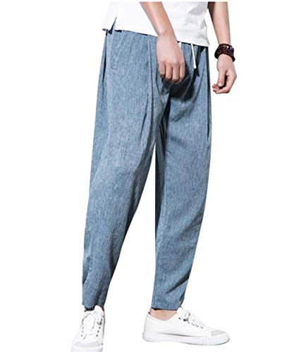 Haremshose De Cómodo Sueltos Grau Chándal Pantalones Bloomers Entrepierna Deportivos Informal Battercake Harem Primavera Otoño Blau wf5tzpqx