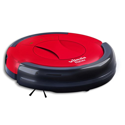 Vileda 145096 Relax Cleaning Robot Robotic Vacuum Cleaner, UK Version, Red