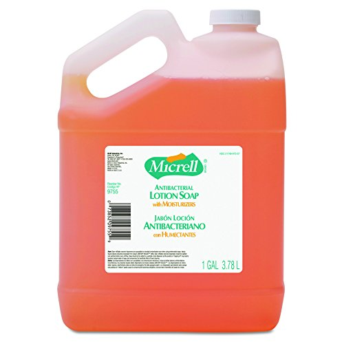 GOJO 975504CT MICRELL Antibacterial Lotion Soap, Light Scent, 1gal Bottle (Case of 4) Scent 1 Gallon Bottle