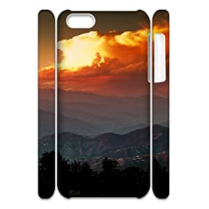 MEIMEI ipod touch 5 Case 3D, Mountains and Clouds In The Dawn Case for ipod touch 5 white lmipod touch 5172653LINMM58281
