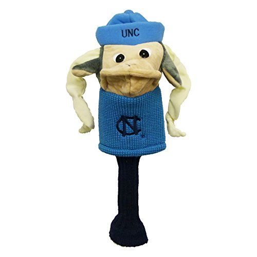 Team Golf NCAA North Carolina Tar Heels Mascot Golf Club Headcover, Fits most Oversized Drivers, Extra Long Sock for Shaft Protection, Officially Licensed Product