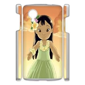 Google Nexus 5 Phone Case White Disney Lilo &amp Stitch Character Lilo Pelekai WQ5RT7429852