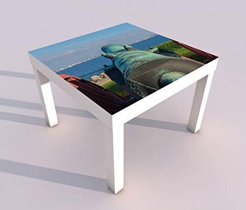 Diseño - Mesa con UV Presión 55x55cm Cañón Antiguo Arma Weiler ...