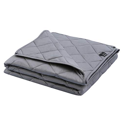 Cheap Weighted Blanket 20 lbs 60 x 80 Adult Heavy Blanket for Anxiety Relief Premium Cotton with Glass Beads for Better Sleep Relaxing Black Friday & Cyber Monday 2019