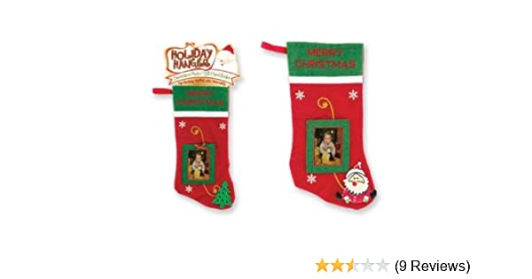 Amazoncom Stocking With Photo Frame Christmas Stockings
