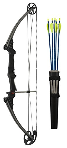 Genesis Bows GenK-12248 Archery Righ Hand Bow Set, 15-30-Inch/10-20-Pound