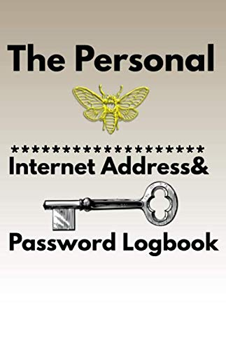The Personal Internet Address & Password Logbook Bee Key: Internet password design 100 Page Numbered composition ruled notebook for you or as a gift ... or for you to use at home or at your office