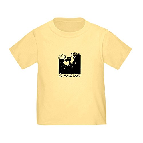 CafePress No-Man's Land Cute Toddler T-Shirt, 100% Cotton Daffodil Yellow