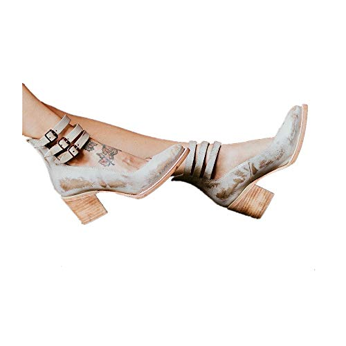 Mary Talons Haut Escarpins 5 Sandales Bloc Élégant Mode Cuir Noir Cm TF1lKJc