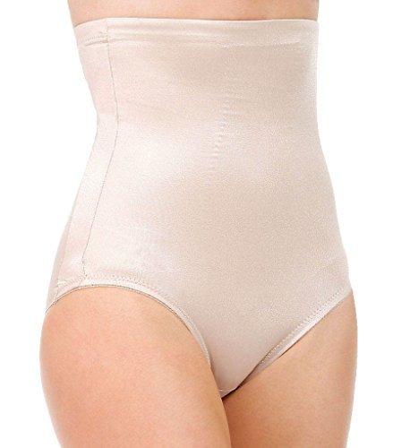 TC Fine Intimates Women's Even More? Triple-Ply Midriff Hi-Waist Brief 485 Nude Body Shaper MD