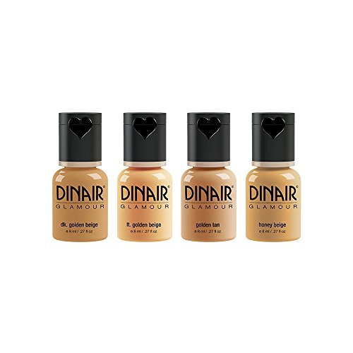 Dinair Airbrush Makeup Foundation | Medium Shades | GLAMOUR: Natural, Light coverage, Matte