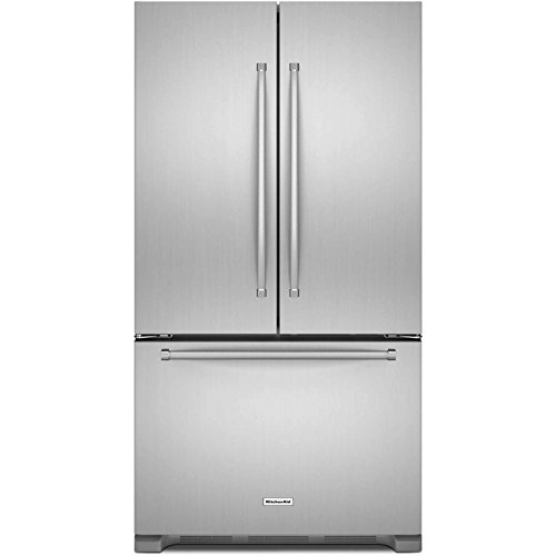 Kitchen Aid KRFC302ESS 22 Cu.Ft. Stainless Steel 3 Door French Door Refrigerator (22 Ft Refrigerator Cu)