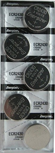 5 Pack CR2430 3V Lithium Batteries