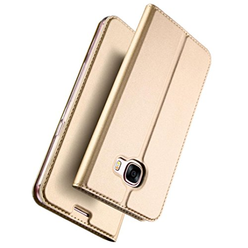 coohole-ultra-slim-layer-leather-flip-case-for-samsung-galaxy-a72017-gold