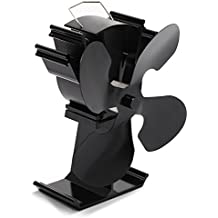 Kenley Heat Powered Fan for Wood Burning Stove - Eco Friendly Thermal Activated Convection Blower for Stove Top Fireplace Fire Log Burner - Ultra Quiet 2018 Model - Warm Room 40% Faster - 4 Blades