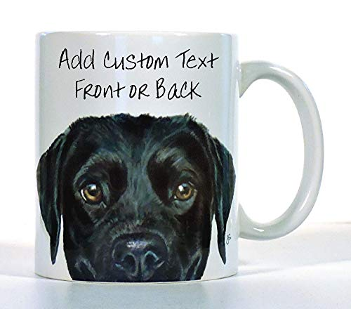 Labrador Retriever Coffee Mug, Black, Chocolate or Yellow Lab, Personalized Made to Order, Add Custom Text