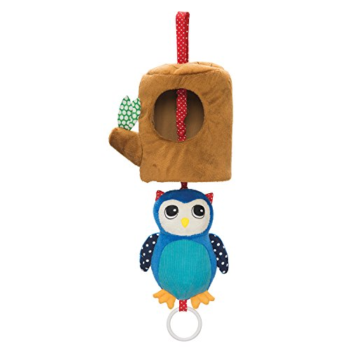 (Manhattan Toy Lullaby Owl Pull Musical Crib and Baby Toy)