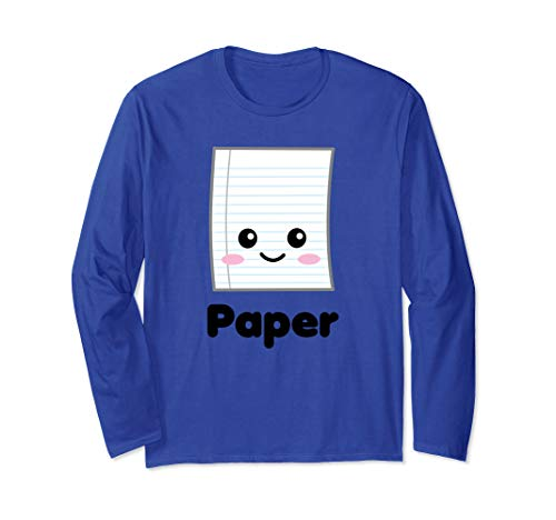 Rock Paper Scissors Group Halloween Costume Long Sleeve -