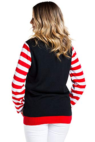 Tipsy Elves Women's Light Up Christmas Sweater - Black Lit Funny Ugly Christmas Sweater Female - http://coolthings.us