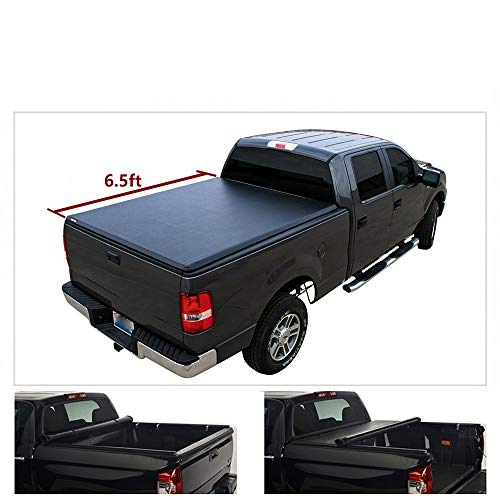 Viksee 1pc Soft Roll up Tonneau Cover, for Ram 2009-2018 1500 2010-2018 2500/3500 6.5ft Fleetside Bed(Not for Ram Box Models)