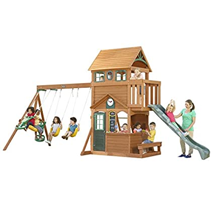Amazon Com Kidkraft Ashberry I Wooden Swing Set Toys Games