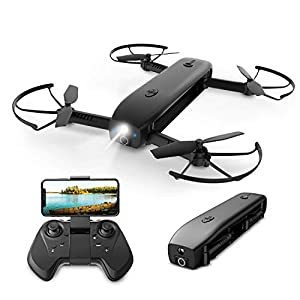 Holy Stone HS161 Multifunction FPV Drone with Camera 1080P for Adults with Optical Flow Positioning,Mini Drones Foldable,Handheld Flashlight,Pocket RC Quadcopter for Kids Travel,Portable Power Bank,8G TF