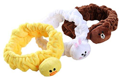 Spa Hair Wrap (Makeup Headband Bunny Ear Shower Hair Band Women Cosmetic Running Sport Headwrap (Animal pack))