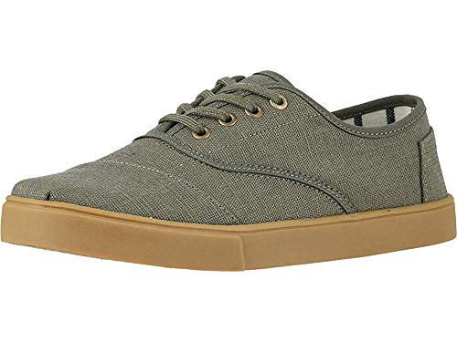 Olive Dusty - TOMS Men's Cordones Cupsole Dusty Olive Heritage Canvas Cupsole 14 D US