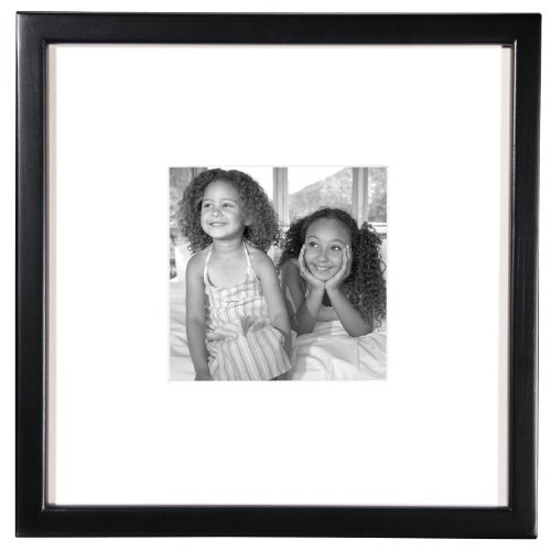 MCS 12 by 12-Inch East Village Series Wood Collage Frame with One 6-Inch by 6-Inch Opening, Black