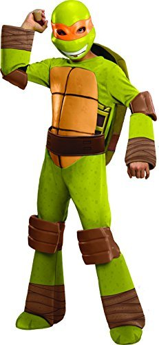 Rubie's Costume Toddler Teenage Mutant Ninja Turtles Deluxe Michelangelo Costume, 1-2 Years, One Color