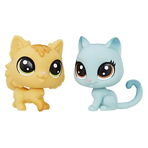 Fluffy Kitty (Littlest Pet Shop Fluffy Catson & Kitty Von Grey-Cat Mini Pet Pair)