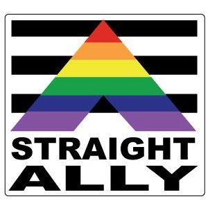 Gay Rainbow Sisters Gay Pride Bumper Sticker Straight Ally