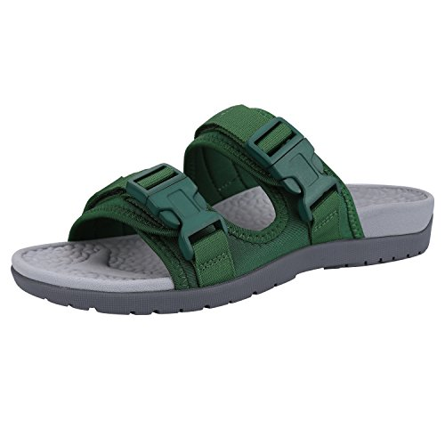 Everhealth Orthotic Sandals Women Buckle Slides Sandal Outdoor Slippers with Arch Support for Plantar Fasciitis (Deep Teal 5 US Women/4 US Men)