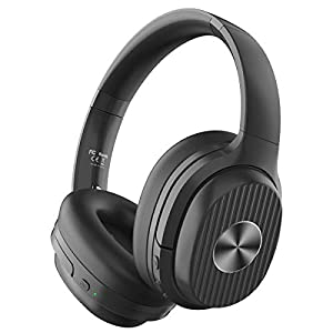 EKSA Active Noise Cancelling Headphones Bluetooth 5.0, 60 Hrs Playtime, Wireless Headphones with Quick Charge CVC 8.0…