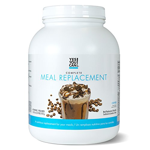 Yes You Can! Complete Meal Replacement, Up to 2 Meals a Day, Helps Lose Weight - Sustituto de Comida Completo con Proteína para Perder Peso 30 Servings, 3.33 Lb, Coffee Flavor