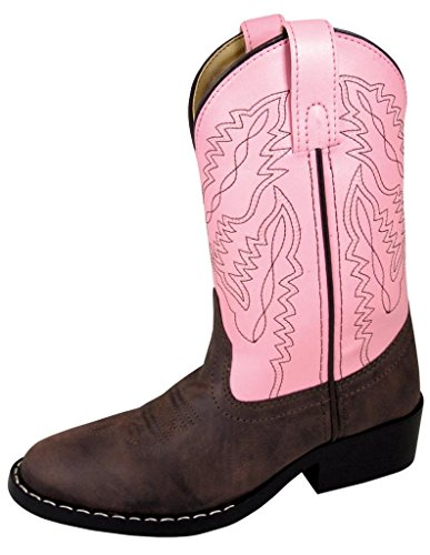 Smoky Mountain Youth Girls Monterey Boots Brown/Pink, 5M,Brown/Pink,5 M US Big Kid