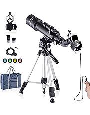 Telescoop HD 400 / 70mm Telescoop voor kinderen Volwassenen Astronomietelescoop - naar de maan kijken, vogels kijken, de natuurlijke omgeving bekijken, het stadslandschap bekijken, Concert
