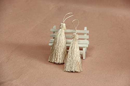 "MINO 1235 12per 4.5""Handmade Tassels Wooden Beads Trimming For Curtain Accessory"