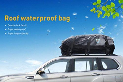 Leedford 100% Waterproof Carrier Bundle Roof Top Cargo Rack Waterproof  Carrier Bag For All Vehicles Cars With Side Rails Cross Bars Or No Rack   Explorer ...
