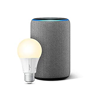 Echo Plus (2nd Gen) with Sengled Smart LED Bulb - Alexa smart home starter kit - Heather Gray