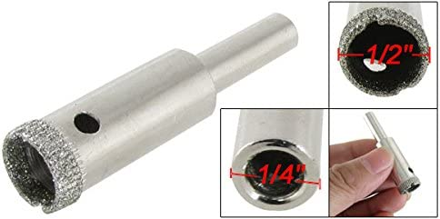 sourcingmap Lot de 9//à tige droite 6/mm foret Diamant marbre verre Trou Scie