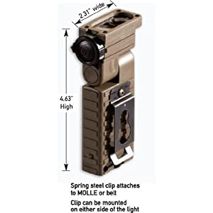 Streamlight 14032 Sidewinder Military Tactical Flashlight with Articulating Head and Batteries, Coyote