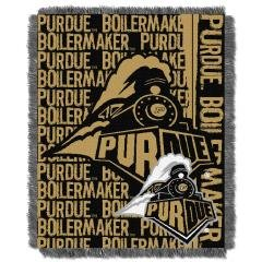 Purdue NCAA 48x60 Triple Woven Jacquard Throw Blanket